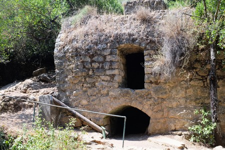 Ruined house in Nahal Amud National park, Upper Galilee in Israel. Stock Photo