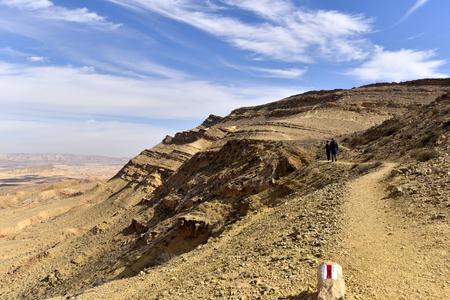 Mountain trekking in Negev Desert, Israel.