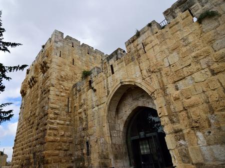 Entrance in Ancient Citadel in Old City of Jerusalem, Israel.