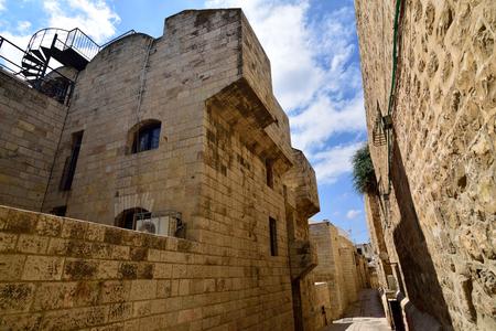 Narrow streets in Jewish Quarter of old Jerusalem, Israel.
