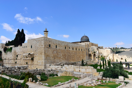 Archaeological excavations near Old City of Jerusalem.