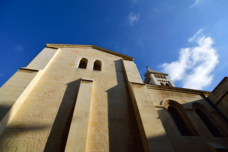 German Lutheran Church of the Redeemer in old city of Jerusalem, Israel. Stock Photo
