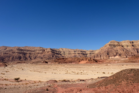 Scenic mountain landscape in Timna National park, Israel. Stock Photo