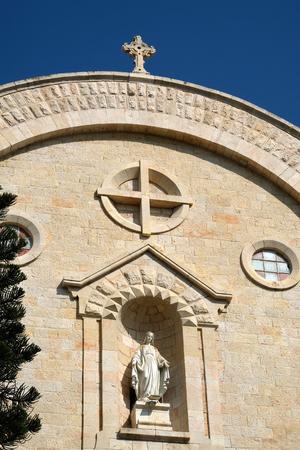 St. Vincent de Paul church facade from Mamilla Mall, Jerusalem