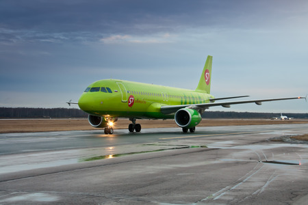 Airbus A319 S7 in Moscow, Russia Editorial