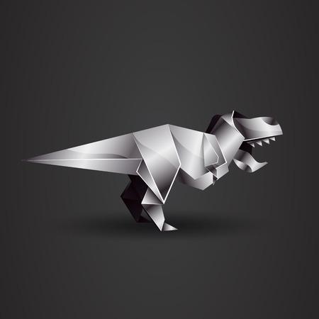tyrannosaurus rex: chrome origami Tyrannosaurus Rex
