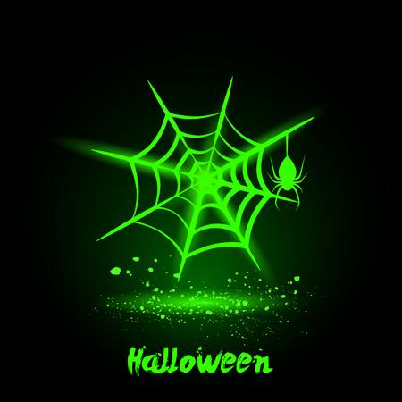 spider web: Halloween glowing neon spider web