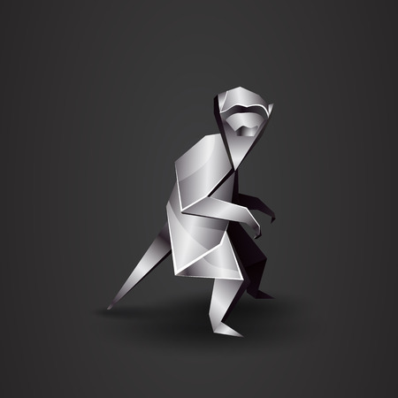 chrome: chrome origami monkey