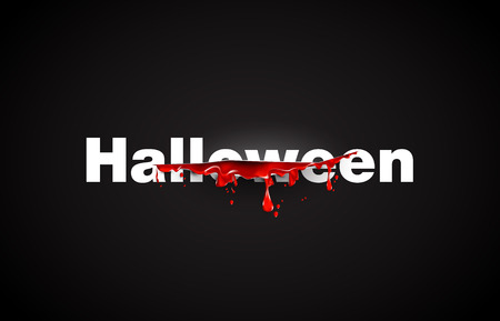 slash: Halloween. text cut with the blood template. Black background