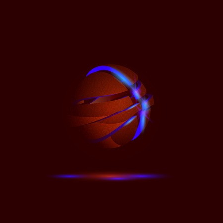 apart: Falling apart 3D basketball ball