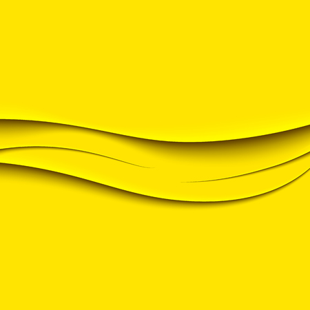 gyrus: Abstract yellow wavy background. Realistic shadows Illustration