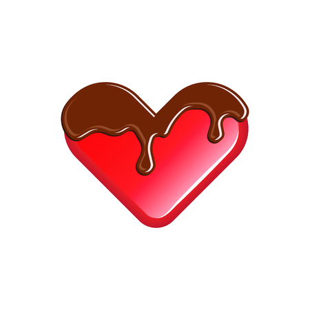 poured: Sweet jelly heart poured chocolate fondant