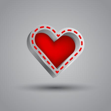 window shade: Happy Valentines Day. 3d heart banner box.