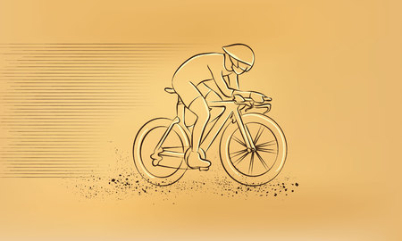 cycling race: Cycling race. Vector retro drawing illustration. Illustration