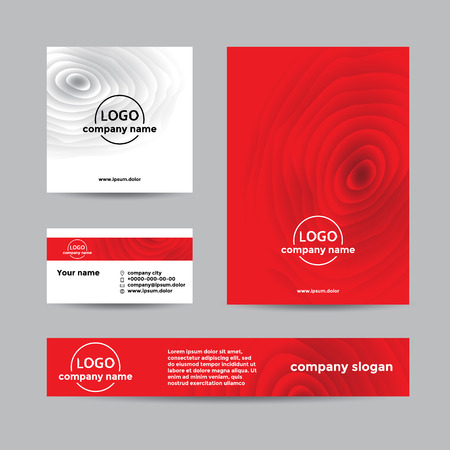 marca libros: Red wooden corporate set of business card, cover. Abstract background for company branding with wooden texture.