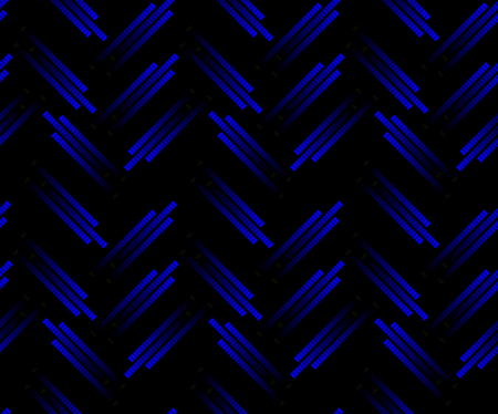 trajectory: Blue neon tech seamless pattern. Laser mark in trajectory of the indicator. The lights in gradation. Illustration