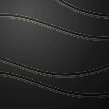 Schwarzes Leder mit Stichhintergrund. Leder Banner mit Kopie Platz platzieren.