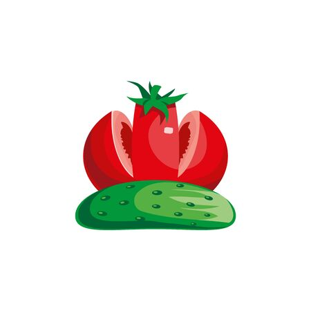 Tomato and cucumber look like a crown.