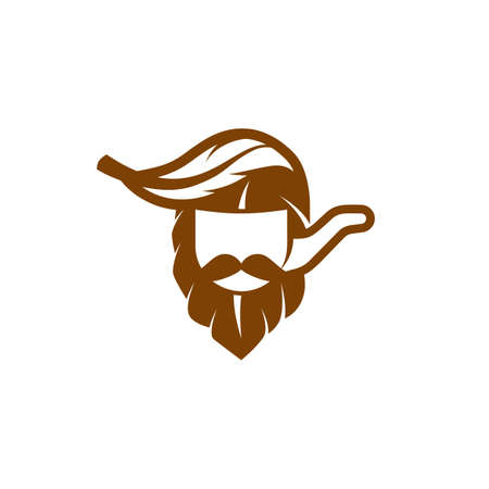 Simple and flat captain and tobacco pipe icon. Vector tobacco leaf like a captain head with smoking pipe logo idea