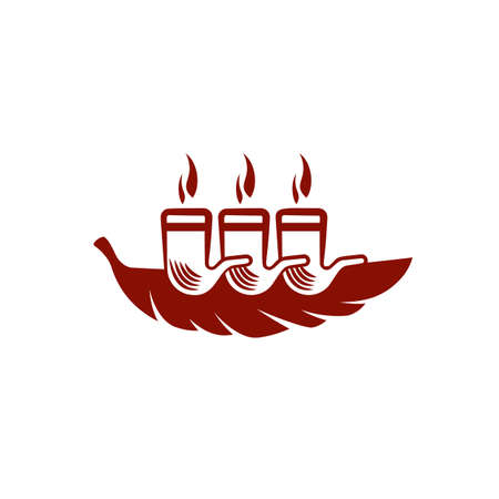 Simple and flat tobacco leaf and steamship icon. Vector smoking pipe logo idea for the business card, branding and corporate identity