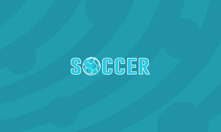 Soccer text design with soccer ball Ilustracja