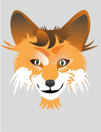 cunning fox of the logo Illustration