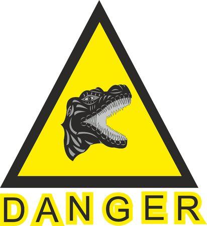 DANGER OF THE DINOSAUR SIGN