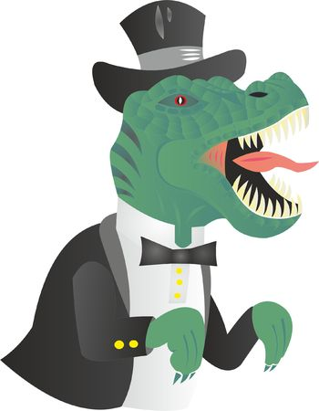 thernosaurs of capitalism rule Illustration
