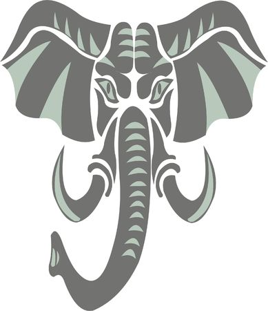 Elephant as a symbol, emblem, logo