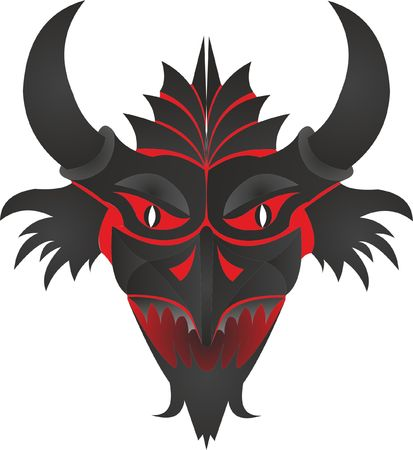 Mask feature with horns