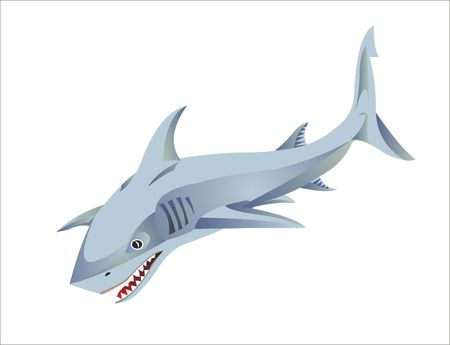 SHARK LOGO OF SHARK FISH PREDATOR Фото со стока - 106184571