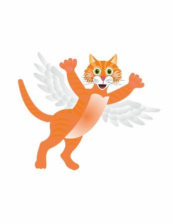 Flying cat  イラスト・ベクター素材