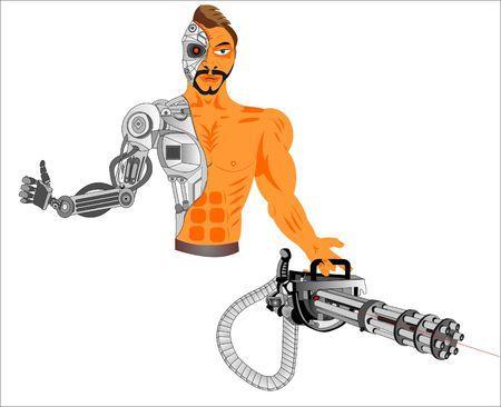 cyborg computer of the future Ilustracja