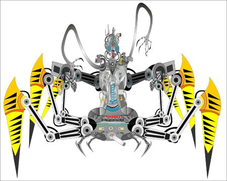 Spider robot for police and military purposes