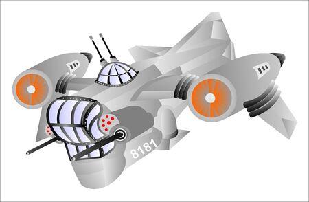 Spaceship shuttle for hunter nayomniki 矢量图像