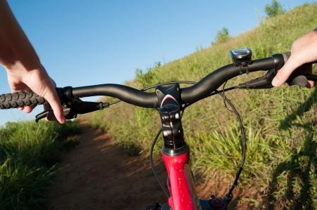 bike trail: Adventure on a mountain bike trail