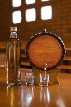 distillery: Typical brazilian alcoholic drink that is made with sugar cane, distilled and stocked in a oak barrel