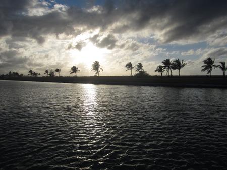 hemingway: Sunset in Cuba Stock Photo