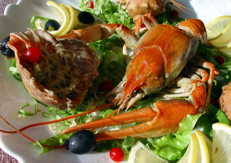 Crayfish and shellfish  photo