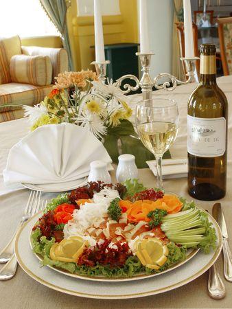 Dinner at restaurant  photo