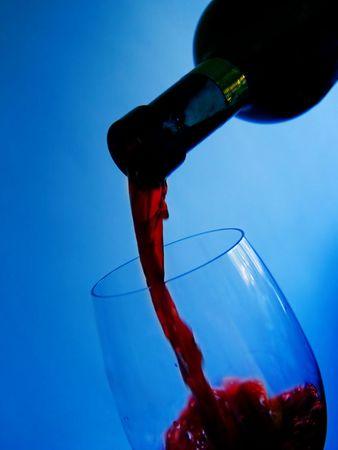 Wine and glass  photo