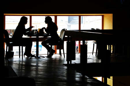 Conversation at restaurant