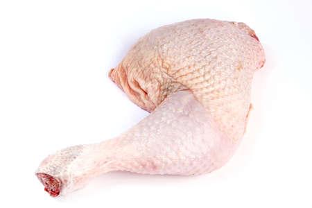Kip been geïsoleerd op witte achtergrond