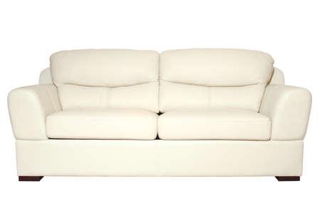 Sofa detail geïsoleerd op witte achtergrond met zwarte pad Stockfoto