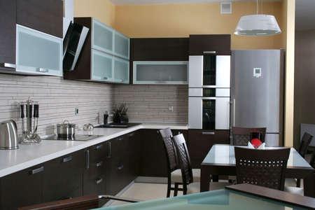 モダンなキッチンの itnerior で撮影したスタジオ ライト