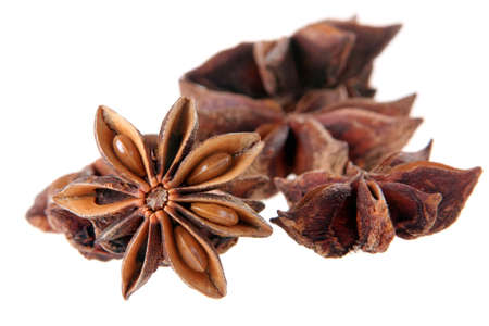 anis: Anis seed closeup isolated on white background