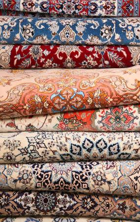 Kleur geweven tapijt oppervlak detail weergave