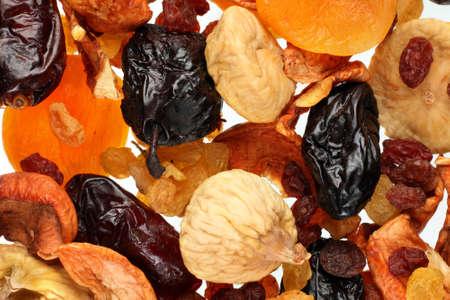 Meng droge vruchten met vijgen, rozijnen en datum