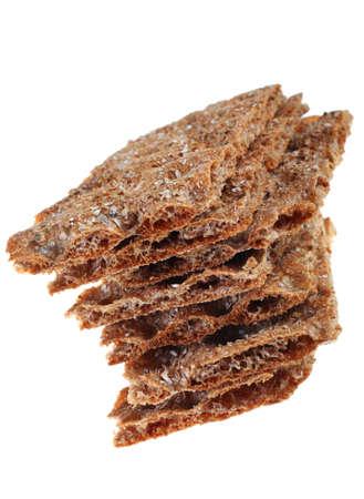 knack: Knack bread detail isolated on white background