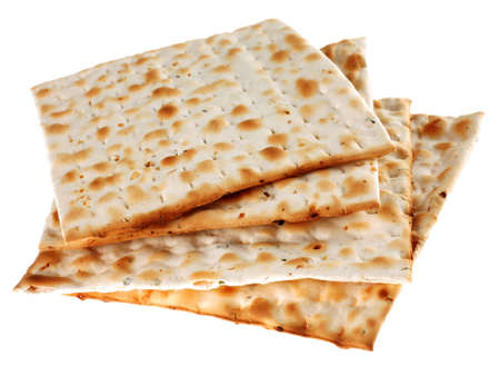 Unleavened bread traditiona isolated on white background Stock Photo - 2851721